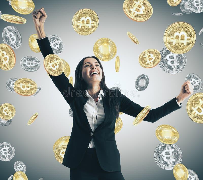 Concepto de la lotería y del cryptocurrency libre illustration