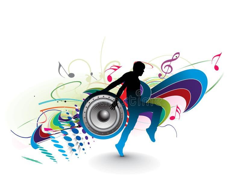 Concepto de la música stock de ilustración