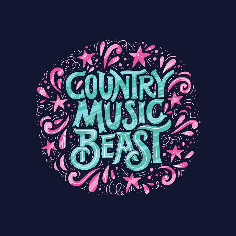 Concepto de la música country stock de ilustración