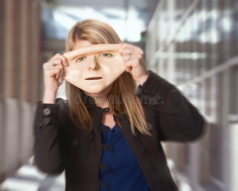 Concepto de la mascarilla imagen de archivo