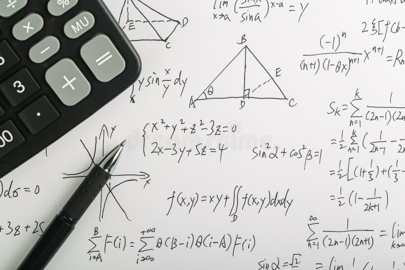 Concepto de la matemáticas fotos de archivo