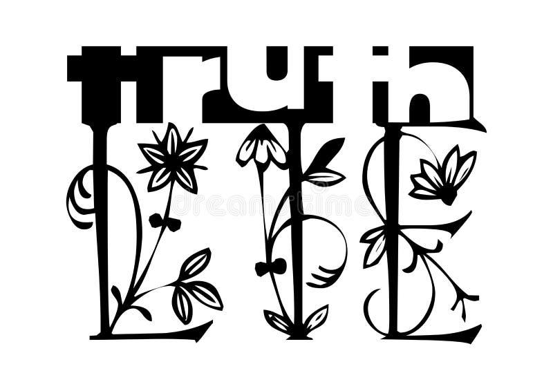 Concepto de la mentira de la verdad stock de ilustración