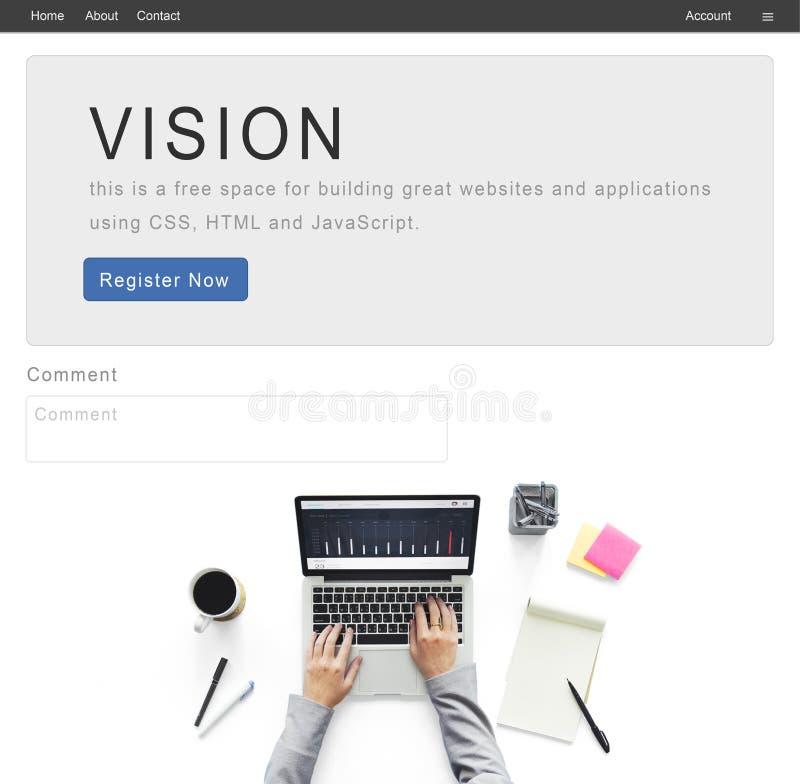 Concepto de la misión de la inspiración del negocio del planeamiento de Vision fotografía de archivo