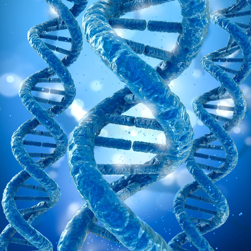 Concepto de la molécula de la DNA stock de ilustración