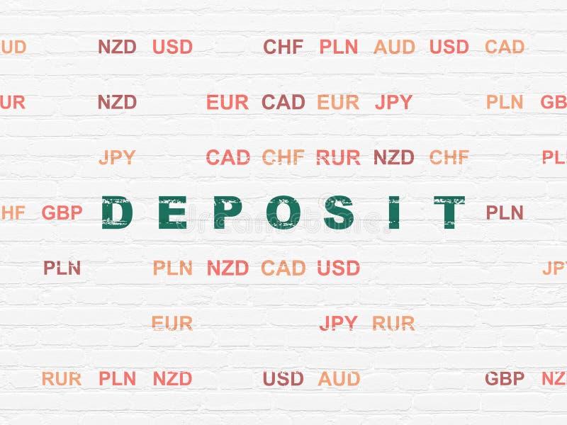 Concepto de la moneda: Depósito en fondo de la pared libre illustration