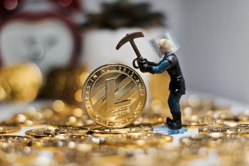 Concepto de la moneda de Litecoin foto de archivo libre de regalías