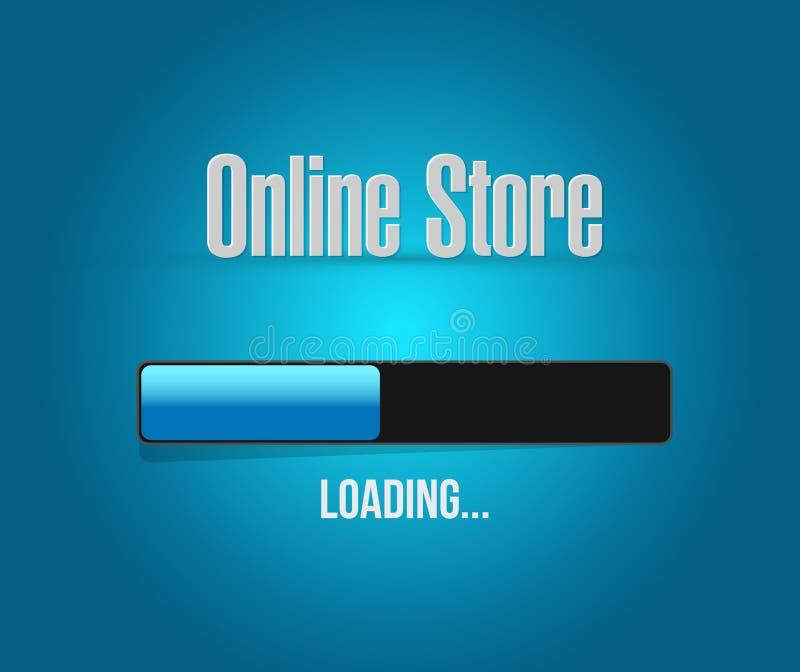 concepto de la muestra de la barra de cargamento de la tienda en línea libre illustration