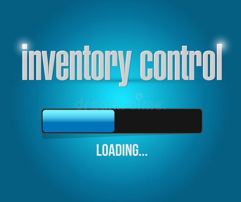 concepto de la muestra de la barra de cargamento del control de inventario stock de ilustración