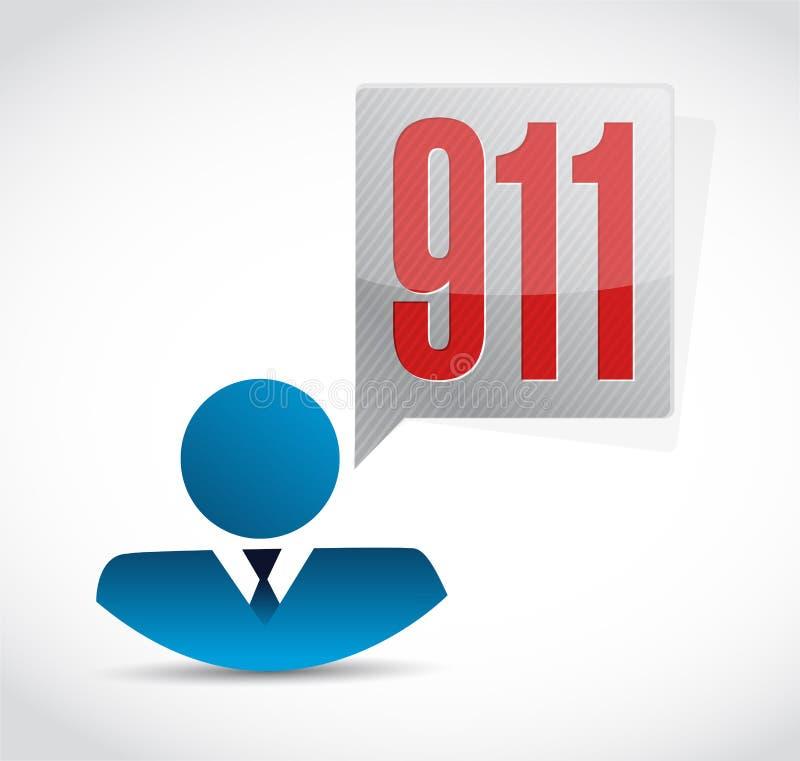 concepto de la muestra del avatar de 911 iconos stock de ilustración