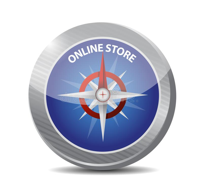 concepto de la muestra del compás de la tienda en línea libre illustration