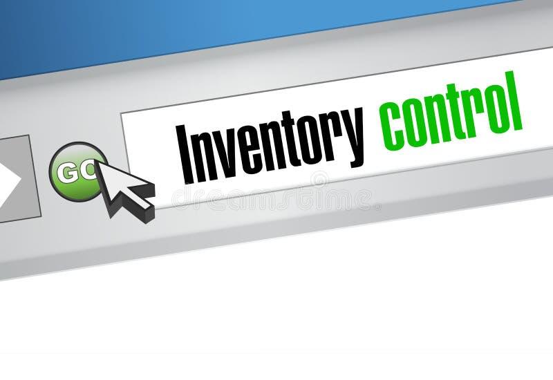 concepto de la muestra del navegador del control de inventario libre illustration