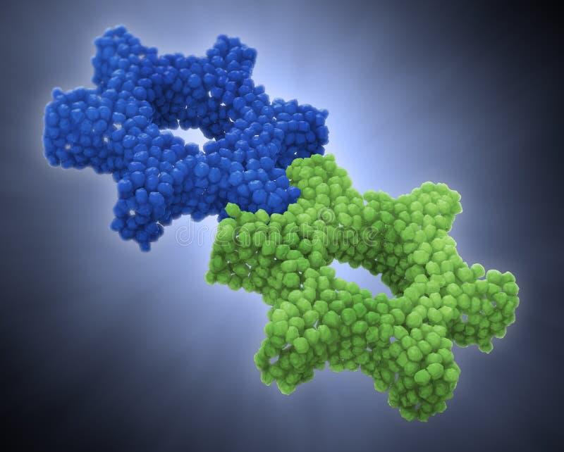 Concepto de la nanotecnología stock de ilustración