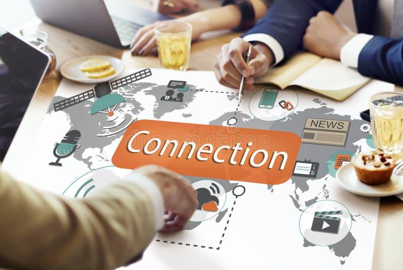 Concepto de la navegación de la interconexión de la comunicación de la conexión imagenes de archivo