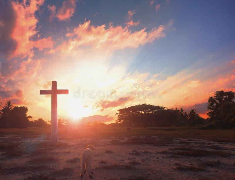 Concepto de la Navidad: cruz de Cristo Jesús fotos de archivo