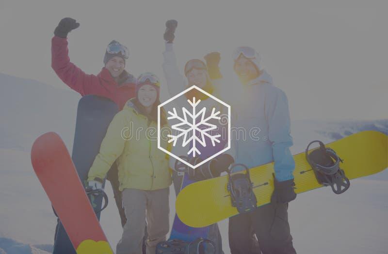 Concepto de la Navidad de la ventisca del copo de nieve del invierno de la nieve imágenes de archivo libres de regalías