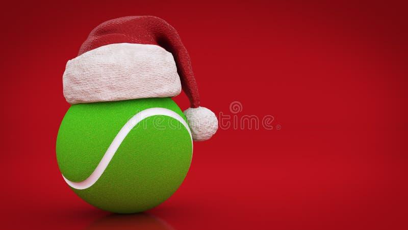 Concepto de la Navidad Pelota de tenis ilustración del vector