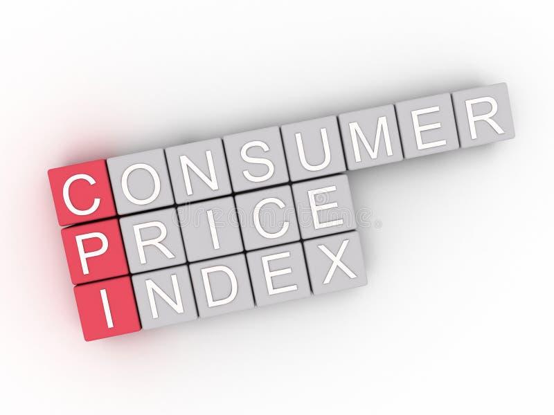concepto de la nube de la palabra de índice de precios al consumo de 3d CPI libre illustration