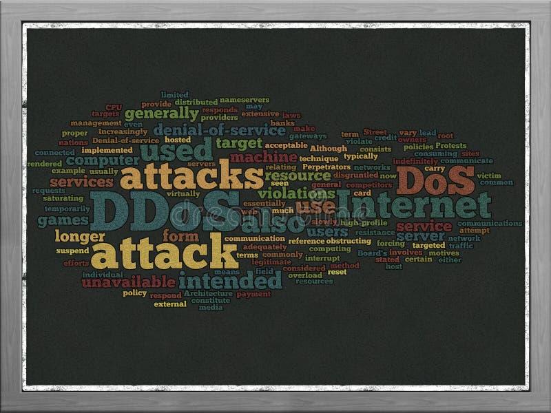Concepto de la nube de la palabra de DDOS libre illustration