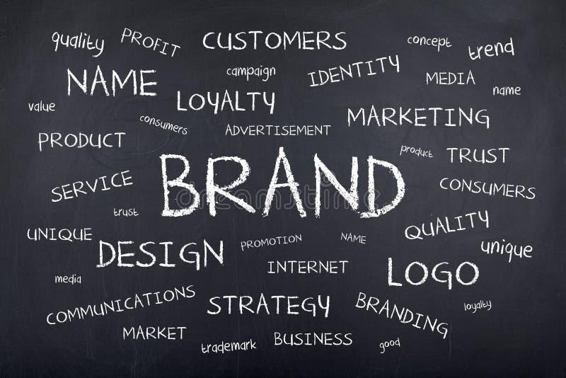 Concepto de la nube de la palabra de la marca stock de ilustración