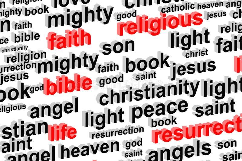Concepto de la nube de la palabra de la religión ilustración del vector
