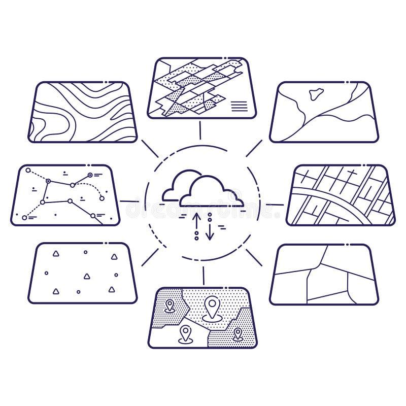 Concepto de la nube de las capas de datos de los SOLDADOS ENROLLADOS EN EL EJÉRCITO stock de ilustración