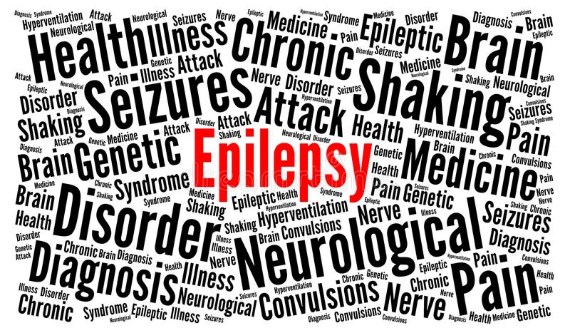 Concepto de la nube de la palabra de la epilepsia ilustración del vector