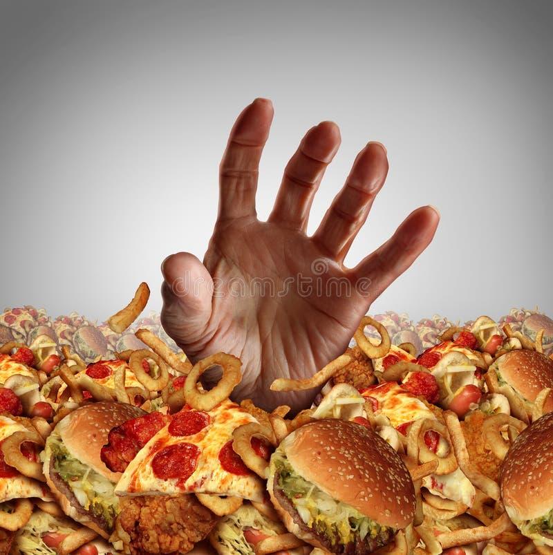 Concepto de la obesidad stock de ilustración