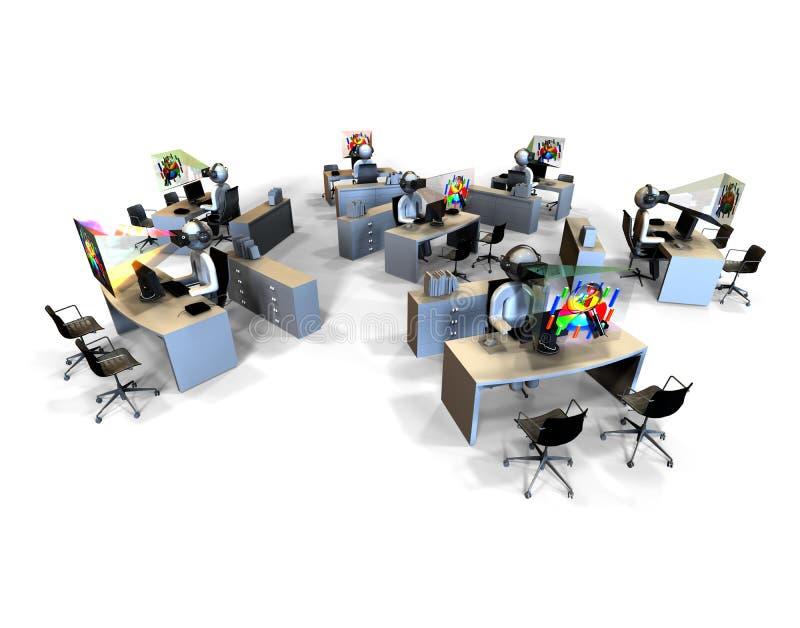 Concepto de la oficina de la realidad virtual libre illustration