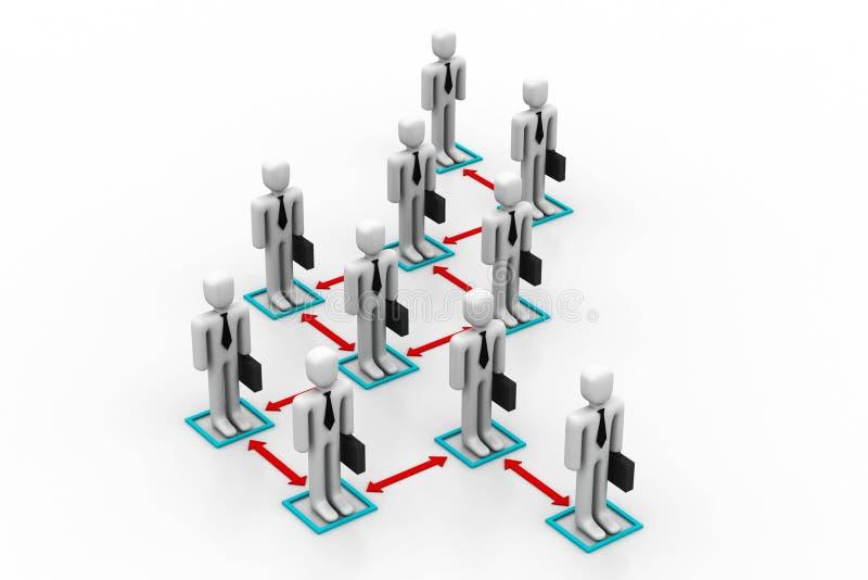 Concepto de la organización de asunto stock de ilustración