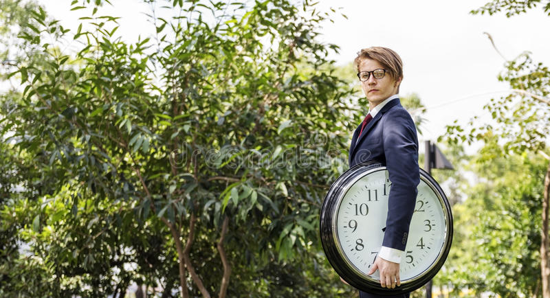 Concepto de la organización del horario de la gestión que mide el tiempo del tiempo foto de archivo