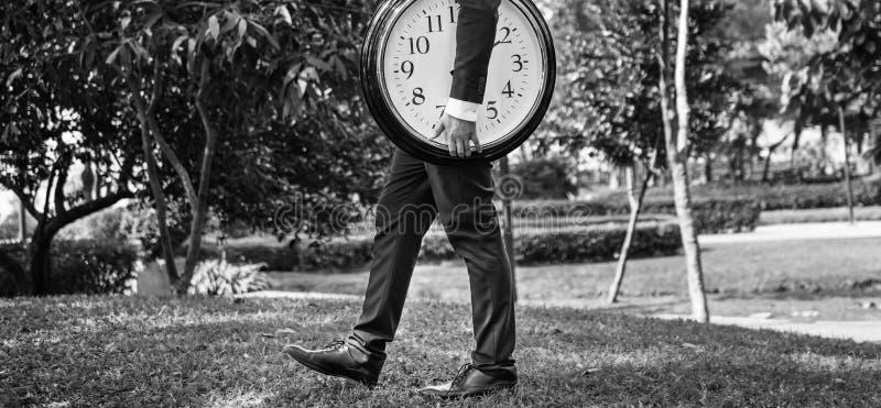 Concepto de la organización del horario de la gestión que mide el tiempo del tiempo imagenes de archivo