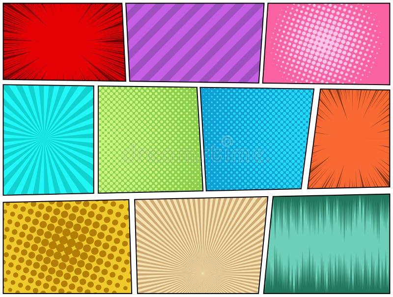 Concepto de la página del cómic ilustración del vector
