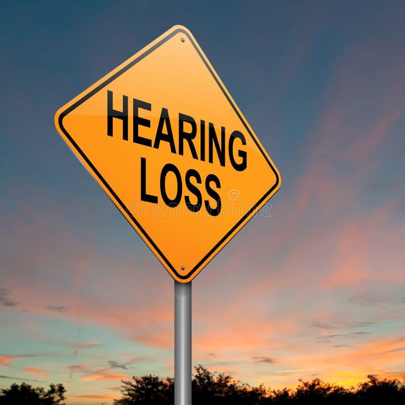 Concepto de la pérdida de oído. ilustración del vector
