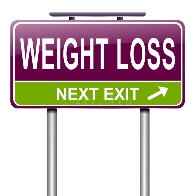Concepto de la pérdida de peso. stock de ilustración