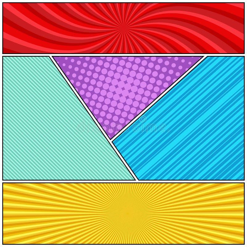 Concepto de la p?gina del c?mic ilustración del vector
