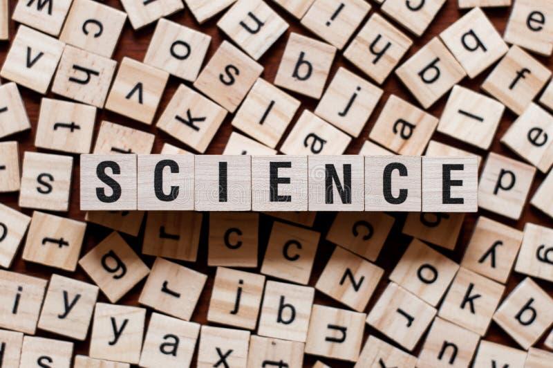 Concepto de la palabra de la ciencia foto de archivo libre de regalías