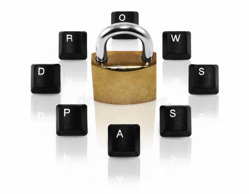 Concepto de la palabra de paso del ordenador imagen de archivo libre de regalías