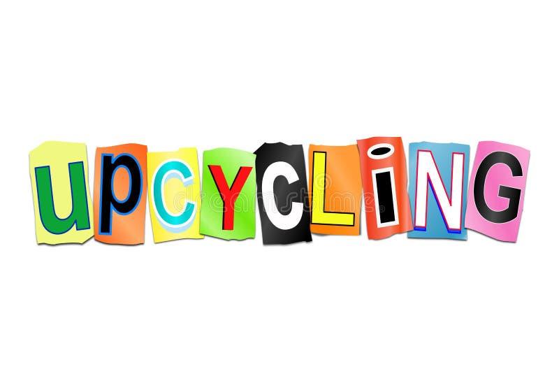 Concepto de la palabra de Upcycling ilustración del vector