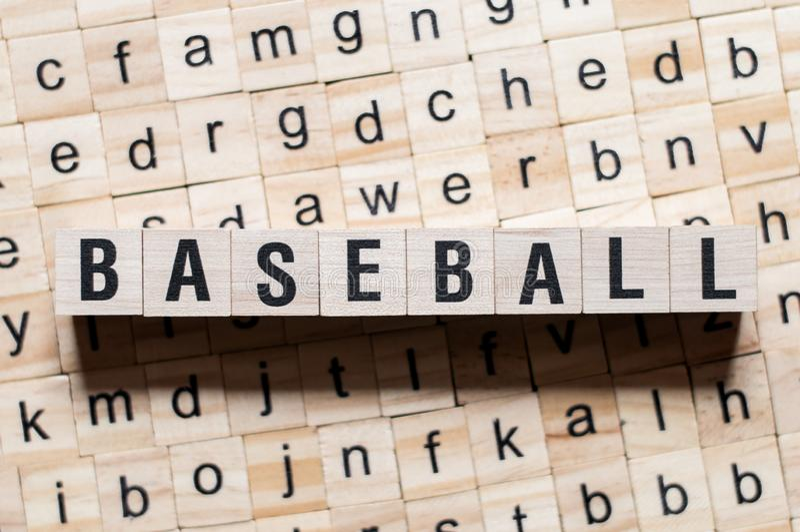 Concepto de la palabra del béisbol foto de archivo libre de regalías