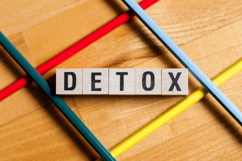 Concepto de la palabra del Detox fotos de archivo