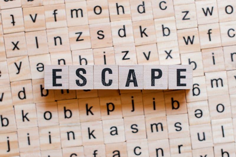 Concepto de la palabra del escape fotografía de archivo
