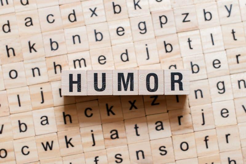 Concepto de la palabra del humor imagenes de archivo