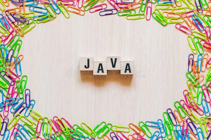 Concepto de la palabra de Java imagenes de archivo