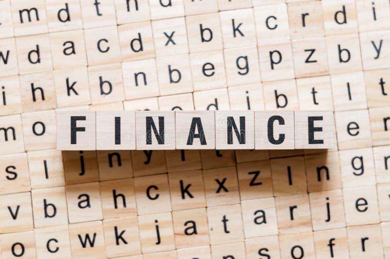 Concepto de la palabra de las finanzas foto de archivo libre de regalías