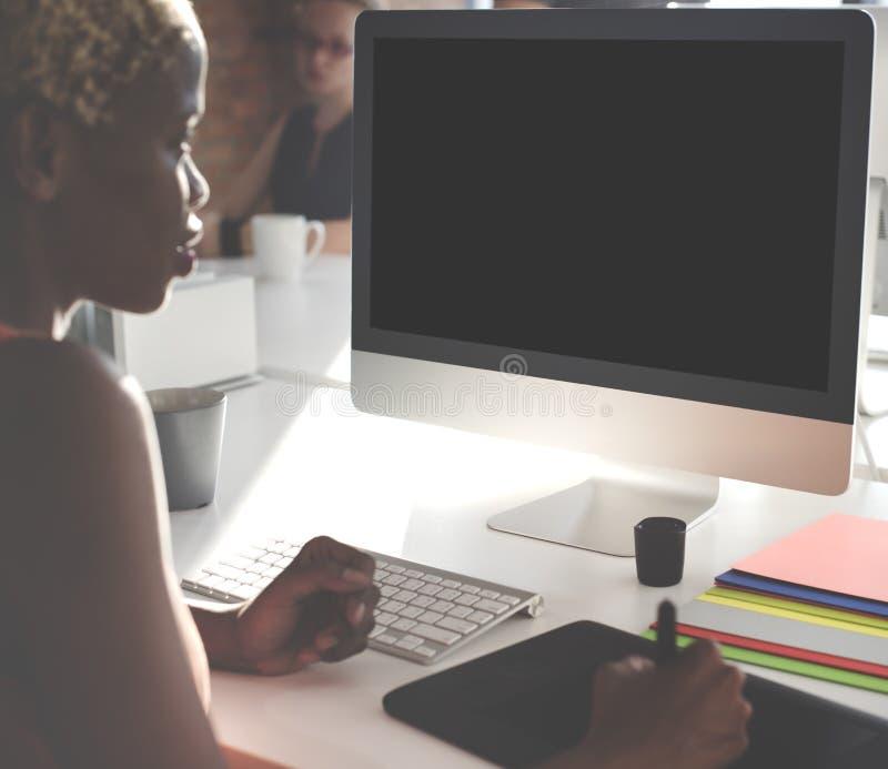Concepto de la pantalla en blanco del espacio de la copia de la maqueta foto de archivo libre de regalías