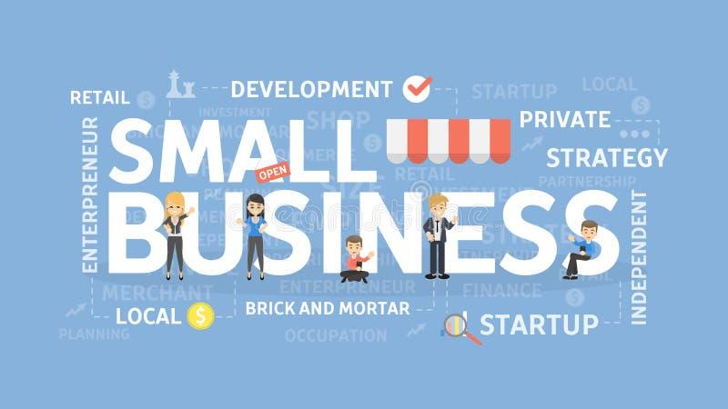 concepto de la pequeña empresa stock de ilustración