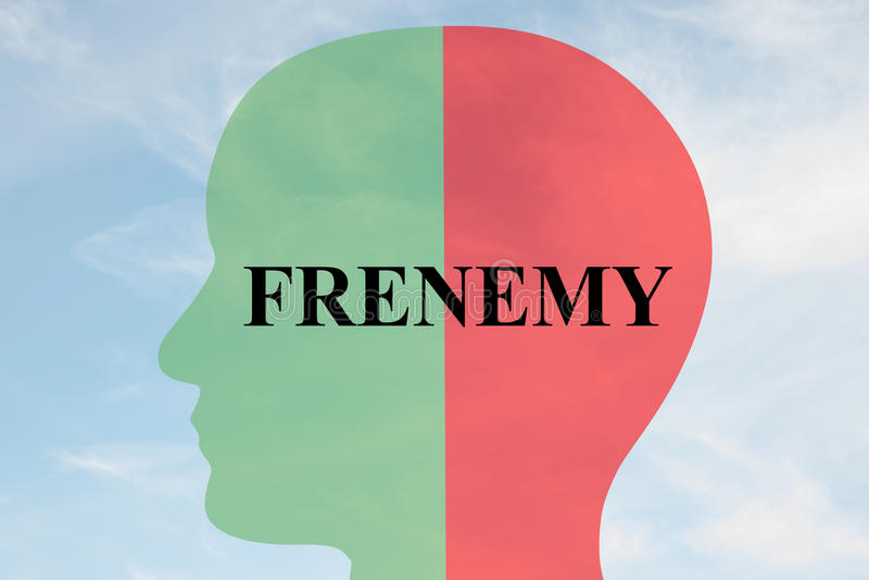 Concepto de la personalidad de Frenemy stock de ilustración