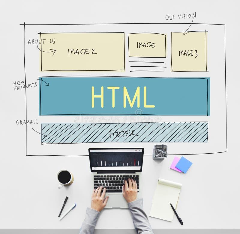 Concepto de la plantilla del diseño web del HTML del diseño fotos de archivo libres de regalías