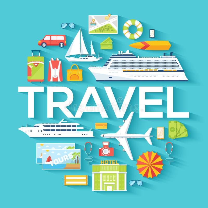 Concepto de la plantilla del infographics del círculo del viaje Los iconos diseñan para su producto o diseño, web y las aplicacio libre illustration