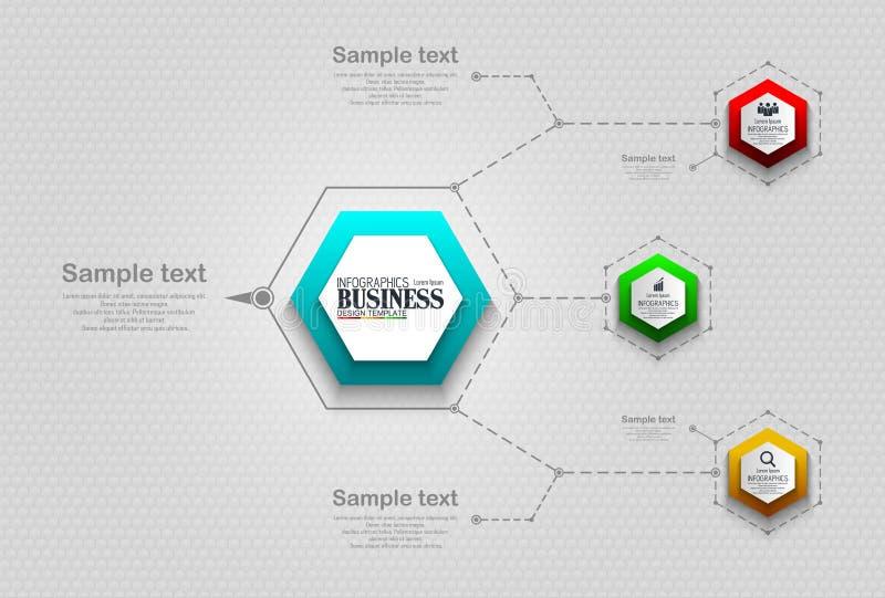 Concepto de la plantilla del negocio de Infographics con 4 opciones imagen de archivo libre de regalías